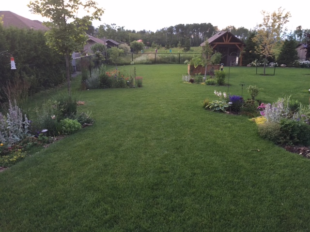 Property after lawncare treatment